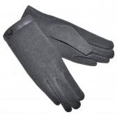 Перчатки женские, трикотажные -46 (серый)