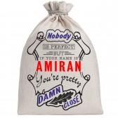 """Мешочек холщовый подарочный """"If your name is Amiran, you are pretty…"""""""