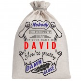 """Мешочек холщовый подарочный """"If your name is David, you are pretty…"""""""