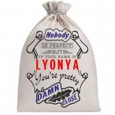 """Мешочек холщовый подарочный """"If your name is Lyonya, you are pretty…"""""""