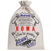 "Мешочек холщовый подарочный ""If your name is Roma, you are pretty…"""