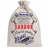 """Мешочек холщовый подарочный """"If your name is Sardor, you are pretty…"""""""