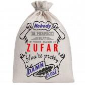 """Мешочек холщовый подарочный """"If your name is Zufar, you are pretty…"""""""