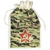 Мешок для подарка с именем  Вэл (камуфляж)