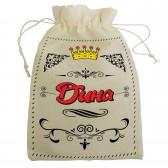 """Мешочек для подарка с именем """"Дина"""""""