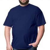 Футболка большого размера RexTex (темно-синий)