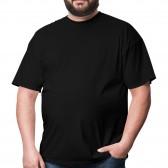 Футболка большого размера RexTex (черный)