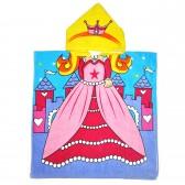 """Детская махровая накидка с капюшоном """"Принцесса"""""""