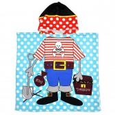"""Детская накидка с капюшоном из микрофибры """"Пират"""""""