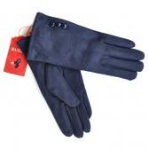 """Перчатки женские текстильные, """"Классика"""", сенсорные (темно-синий)"""