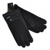 Перчатки мужские непромокаемые с мехом (черный)