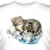 Футболка Art_Brands «Kitten & Teacup» (Котенок и чайная чашка, 05296)