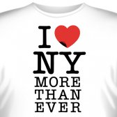"Футболка ""I love New York more than ever"""