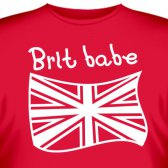 "Футболка ""Brit Babe"""