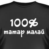 """Футболка """"100% Татарский парень"""""""