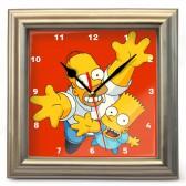 """Часы настенные """"Симпсоны - Гомер и Барт"""""""