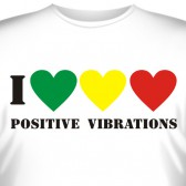 "Футболка ""I love positive vibrations"""