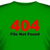 "Футболка ""File not found"""