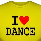 """Футболка """"I love dance"""""""