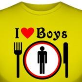"Футболка ""I love boys"""