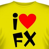 "Футболка ""I love FX"""