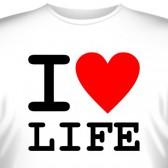 "Футболка ""I love life"""