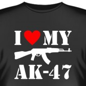 """Футболка """"I love my АК-47"""""""