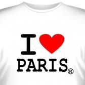 """Футболка """"I love paris"""""""