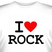 """Футболка """"I love rock"""""""