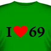 "Футболка ""Люблю позу 69"""