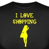 """Футболка """"Я люблю шоппинг"""""""