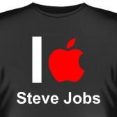 """Футболка """"I love Steve Jobs"""""""