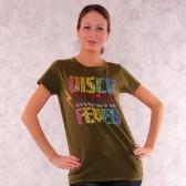 """Футболка женская """"Disco Music Fever"""" (D-Green)"""