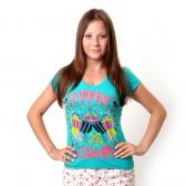 "Футболка женская ""Summer Luxury"" (turquoise)"
