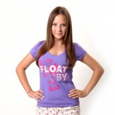 "Футболка женская ""Float By + "" (violet)"