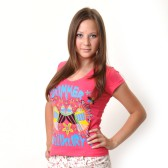 "Футболка женская ""Summer Luxury"" (pink)"