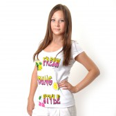 "Футболка женская ""Fresh Young Style"" (white)"