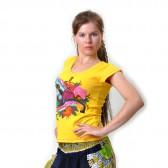 "Футболка женская ""Summer Love"" (yellow)"