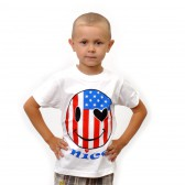 """Футболка детская """"Smile I love America"""""""
