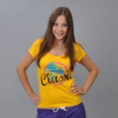 "Футболка женская ""Classic"" (yellow)"