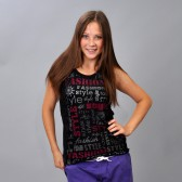 "Майка женская ""Fashion Style"" (black)"