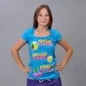 """Футболка женская """"Fresh Young Style"""" (blue)"""