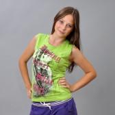 "Майка женская ""Star Girl"" (l-green)"