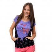 """Комплект: футболка+жилетка """"Киска с бантиком"""" (violet)"""