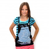 "Комплект: футболка и жилет-подтяжки ""Парусник"" (blue)"