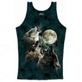 """Женская подростковая майка-топ """"Three Wolf Moon"""" (США)"""
