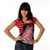 """Комплект: футболка и жилет-подтяжки """"Парусник"""" (pink)"""
