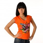 "Футболка женская ""Summer love"" (orange)"