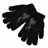 Женские перчатки со стразами