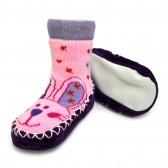 """Носки детские на подошве """"Зайчонок"""" (pink)"""